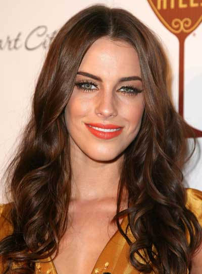 Jessica Lowndes Long, Sexy, Wavy, Tousled, Brunette Hairstyle