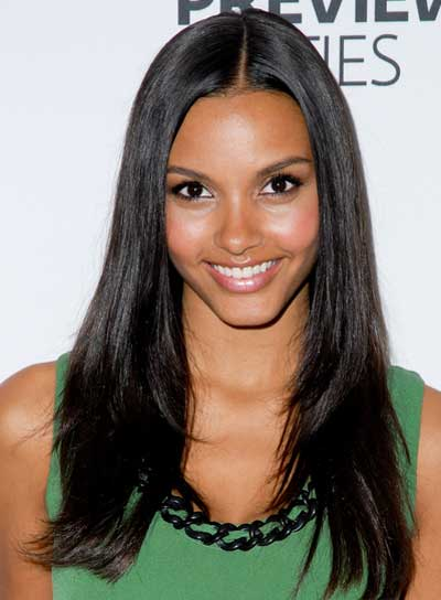 Jessica Lucas Long, Straight, Chic, Black Hairstyle