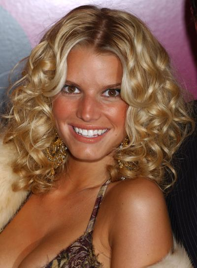 Jessica Simpson Blonde, Curly Hairstyle
