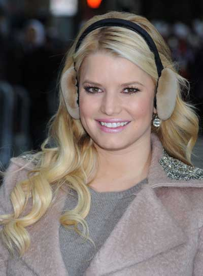 Jessica Simpson Long, Romantic, Curly, Blonde Hairstyle