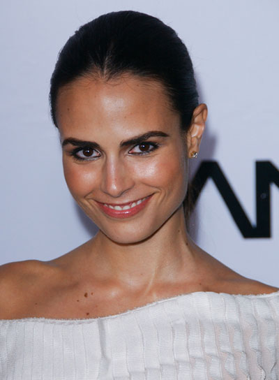 Jordana Brewster Sophisticated, Straight, Brunette Updo