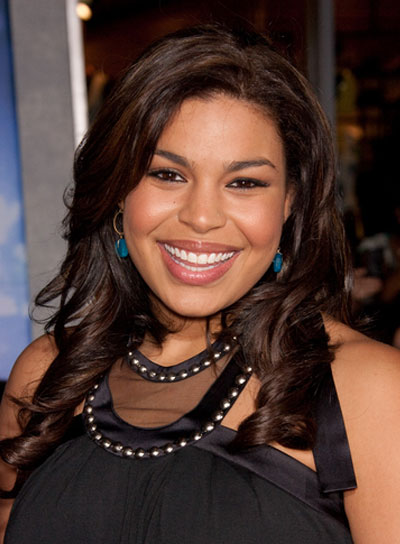 Jordin Sparks Long, Curly, Brunette Hairstyle