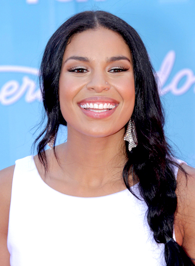 Jordin Sparks' Long, Party, Black Hairstyle with Braids and Twists