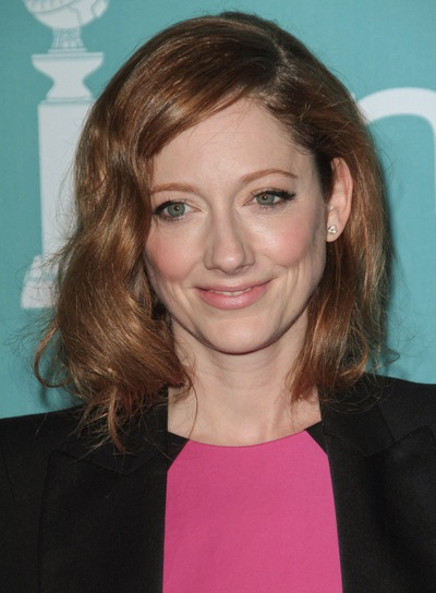 Judy Greer Short, Wavy, Red Hairstyle