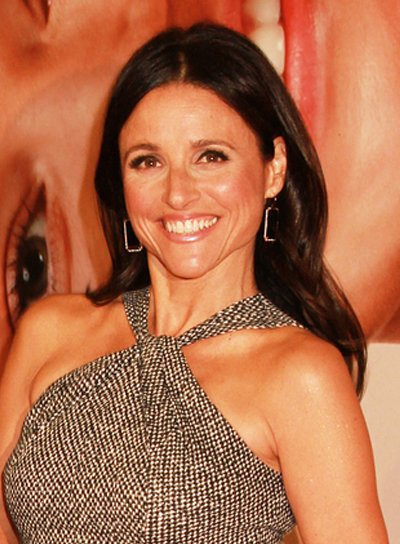 Julia Louis-Dreyfus' Medium, Romantic, Brunette Hairstyle