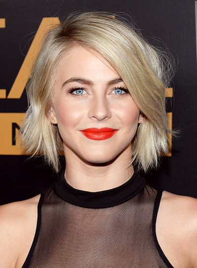 Julianne Hough with a Short, Blunt, Blonde, Tousled Hairstyle Pictures