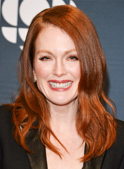 Julianne Moore with a Medium, Red, Tousle