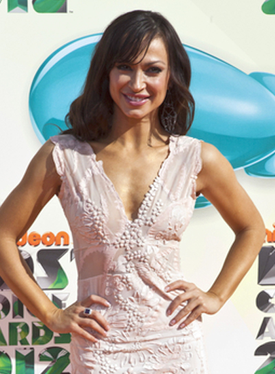Karina Smirnoff's Long, Wavy, Romantic Hairstyle with Bangs