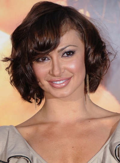 Karina Smirnoff Short, Brunette Bob with Bangs