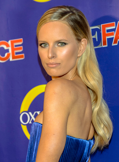 Karolina Kurkova's Long, Blonde, Wavy, Chic Hairstyle