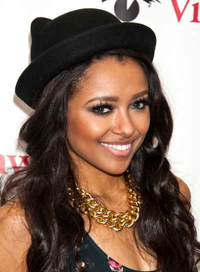 Kat Graham's Long, Wavy, Black, Romantic Hairstyle