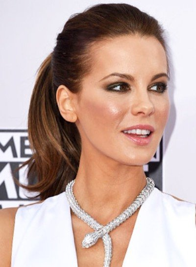 Kate Beckinsale with a Sophisticated, Long, Wavy, Ponytail Hairstyle Pictures