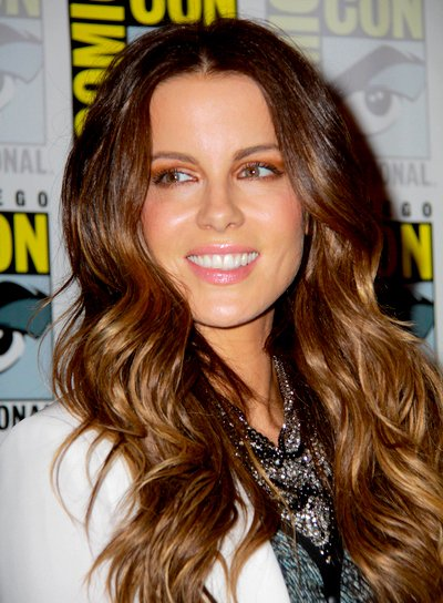 Kate Beckinsale's Long, Brunette, Romantic, Wavy Hairstyle