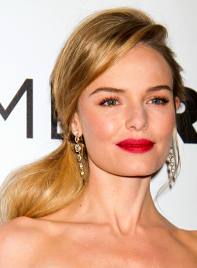 Kate Bosworth Long, Blonde, Straight, Ponytail Hairstyle