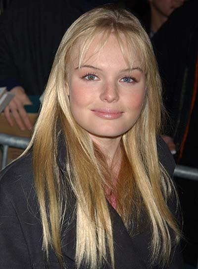 Kate Bosworth Long, Straight Hairstyle with Bangs