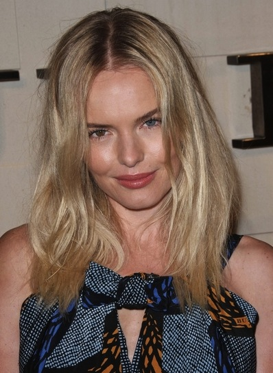 Kate Bosworth Medium, Straight, Tousled, Blonde Hairstyle