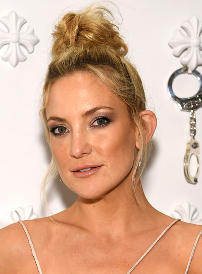 Kate Hudson with a Long, Blonde, Chic, Updo Hairstyle Pictures