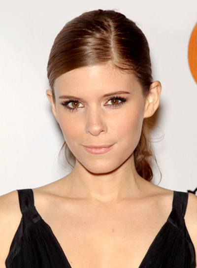 Kate Mara's Chic, Brunette, Wavy, Ponytail Hairstyle