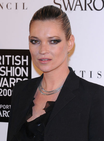 Kate Moss Straight, Chic Updo