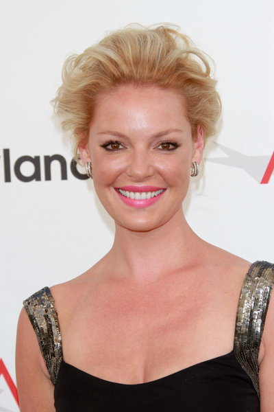 Katherine Heigl's Wavy, Romantic, Blonde, Updo Hairstyle