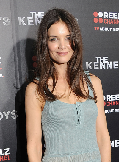 Katie Holmes Long, Sexy, Brunette Hairstyle