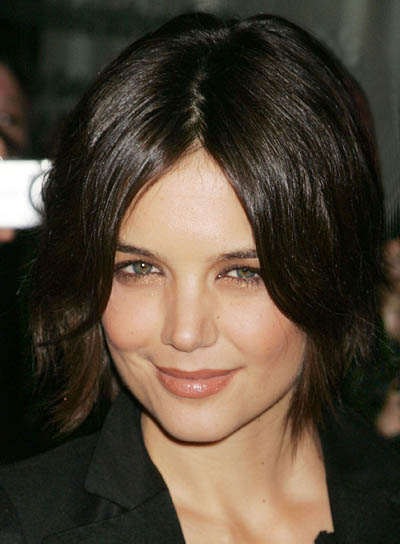 Katie Holmes Chic, Short, Shag Hairstyle