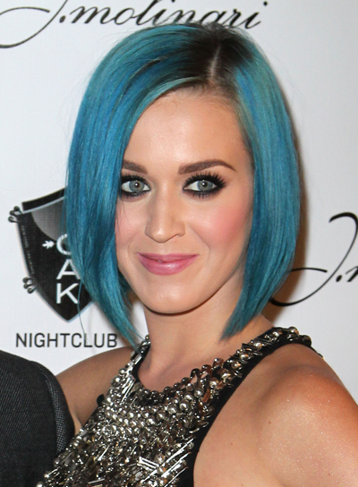 Katy Perry Short, Straight, Funky, Edgy Bob