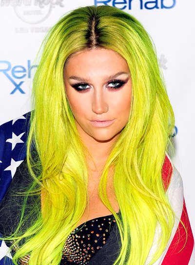 Ke$ha's Long, Blonde, Edgy, Wavy Hairstyle
