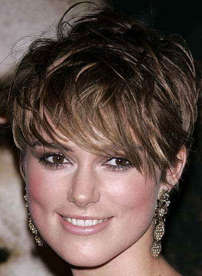 Keira Knightley Short, Sexy Hairstyle