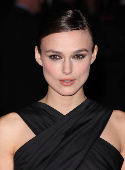 Keira Knightley Chic, Straight, Brunette Updo