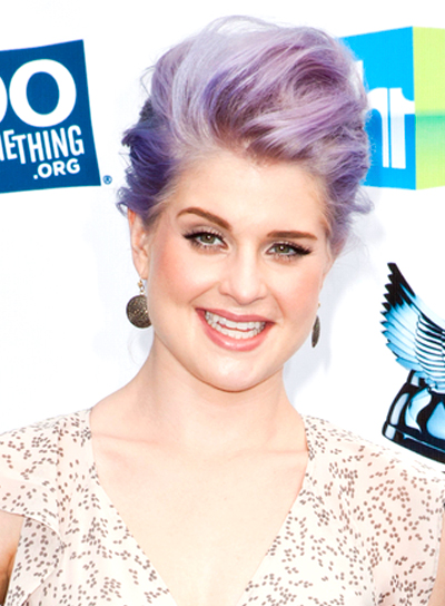 Kelly Osbourne's Edgy, Funky, Party, Updo Hairstyle