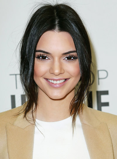 Kendall Jenner Medium, Straight, Black, Sophisticated Hairstyle
