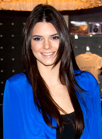 Kendall Jenner's Long, Layered, Chic, Brunette Hairstyle