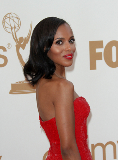 Kerry Washington Medium, Chic, Black Hairstyle
