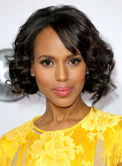 Kerry Washington's Short, Romantic, Black, Wavy Hairstyle