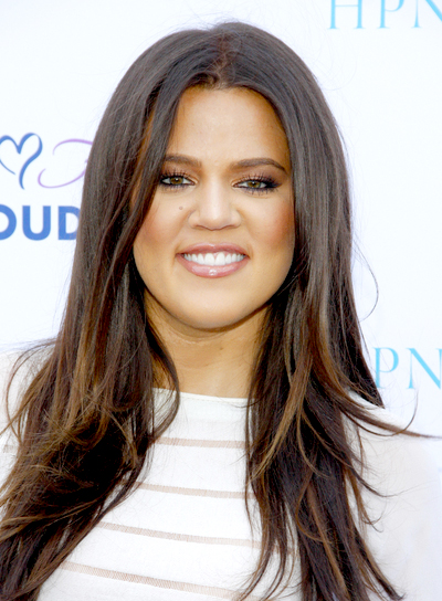 Khloe Kardashian's Long, Layered, Sophisticated, Brunette Hairstyle