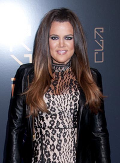 Khloe Kardashian's Long, Sexy, Half Updo Hairstyle