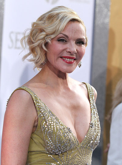 Kim Cattrall Romantic, Blonde Updo