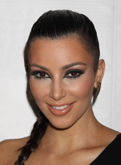 Kim Kardashian Chic, Braided Hairstyle