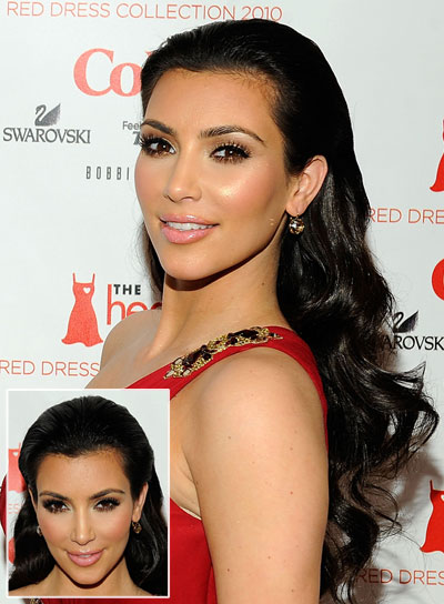 Kim Kardashian Long, Chic, Curly Hairstyle