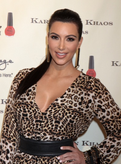 Kim Kardashian Long, Black, Party Ponytail