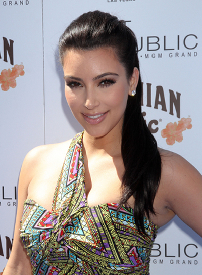 Kim Kardashian Black, Party, Prom Ponytail