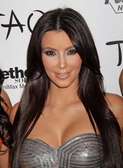 Kim Kardashian Straight, Black Hairstyle