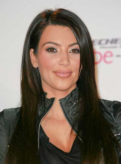 Kim Kardashian Straight, Sophisticated, Chic Hairstyle