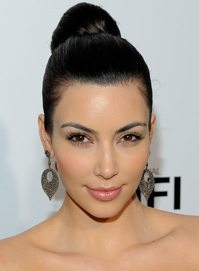 Kim Kardashian Straight, Sophisticated Updo