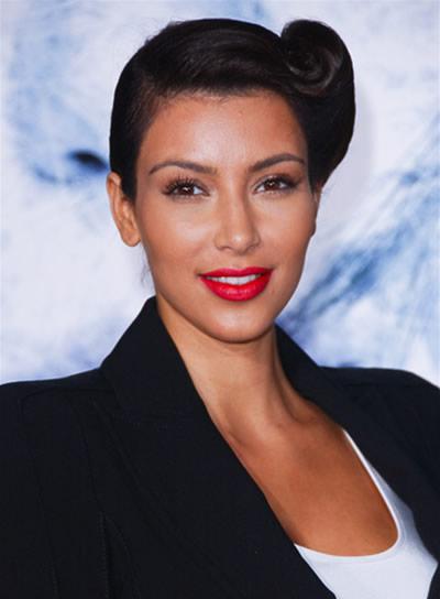 Kim Kardashian Funky Updo