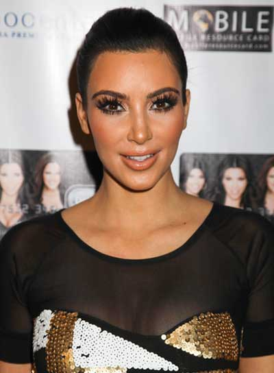 Kim Kardashian Sophisticated, Black Updo