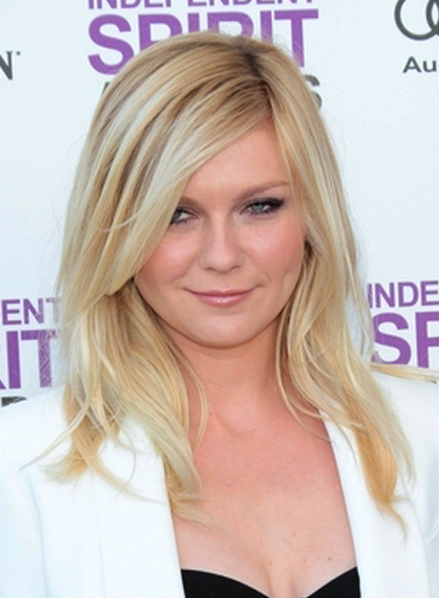 Kirsten Dunst Medium, Straight, Blonde Hairstyle