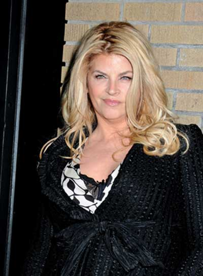Kirstie Alley Long, Curly, Tousled, Blonde Hairstyle