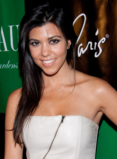 Kourtney Kardashian Straight, Black Hairstyle